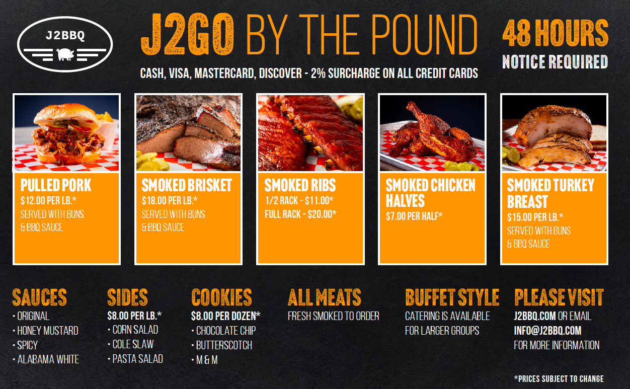 J2BBQ Meat by the Pound